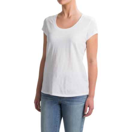Paraphrase Cynthia Rowley High-Low Slub T-Shirt - Scoop Neck, Short Sleeve (For Women) in White - Overstock