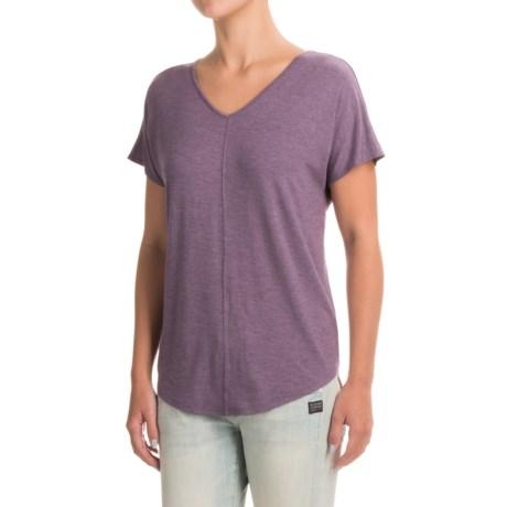 Paraphrase Double V-Neck Shirt - Modal, Short Sleeve (For Women)