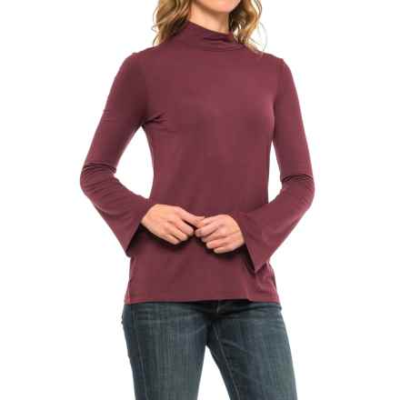 Paraphrase Flare-Sleeve Turtleneck - Long Sleeve (For Women) in Vamp - Closeouts