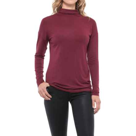 Paraphrase Funnel Neck Shirt - Long Sleeve (For Women) in Vamp - Closeouts