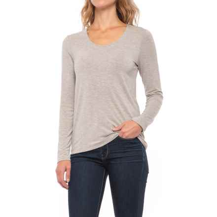 Paraphrase Scoop Neck Shirt - Long Sleeve (For Women) in Medium Oatmeal Heather - Closeouts