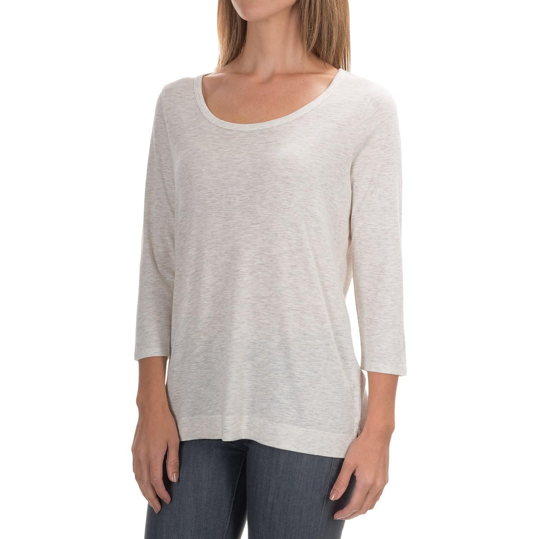 Paraphrase slub knit shirt for women save 48 for What is a slub shirt