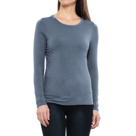 Paraphrase Stretch-Jersey Shirt - Long Sleeve (For Women) in Denim Blue Heather