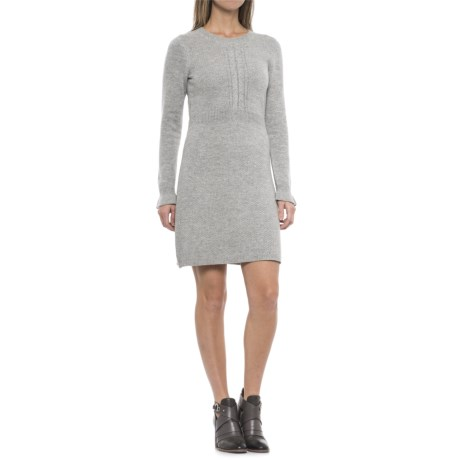 Paraphrase Textured Sweater Sheath Dress - Long Sleeve (For Women) in Heather Grey