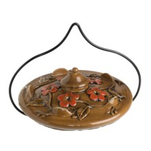 Parasol Habita Flora Hummingbird Feeder - Ceramic in Chestnut - Closeouts