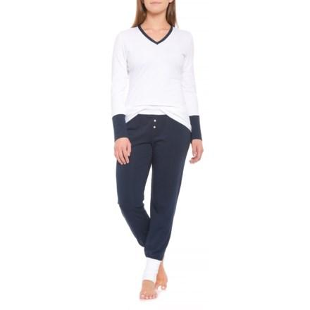 55e5e773f1 Parisa Cotton Pajamas - Long Sleeve (For Women) in Gallen White  Navy -