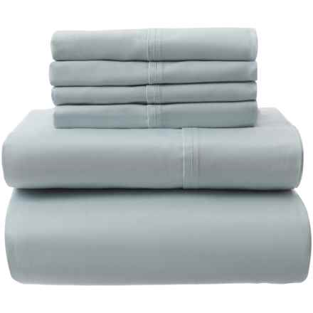 Park Manor Linens Light Blue Cotton Sateen Sheet Set - Queen, 400 TC in Light Blue