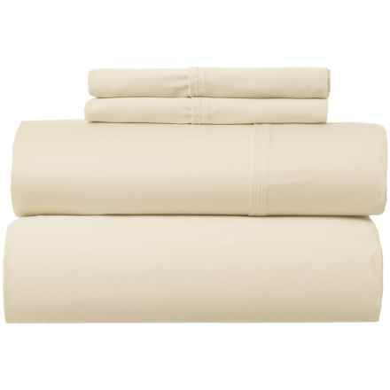 Park Manor Solid Cotton Sateen Sheet Set - Queen, 400 TC in Sand - Closeouts
