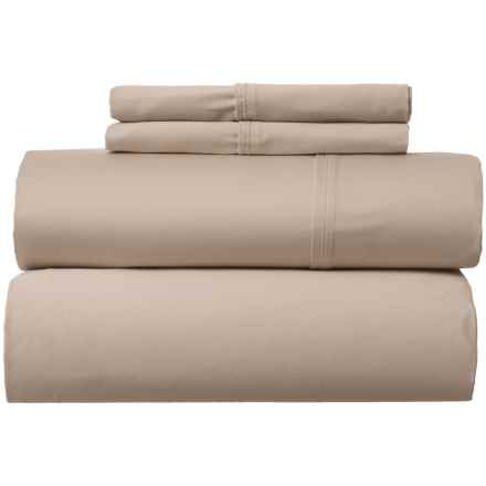 Park Manor Solid Cotton Sateen Sheet Set - Queen, 400 TC in Taupe - Closeouts