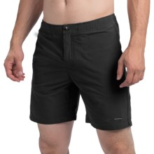 "parke & ronen Naples 8"" Swim Trunks - Low Rise, Slim Fit (For Men) in Houston Black - Closeouts"