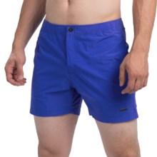 "parke & ronen Naples Solid Swim Trunks - Mesh Inner Brief, 5"" (For Men) in Houston Royal - Closeouts"