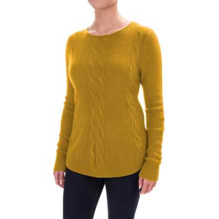 Parkhurst Barbara Cable-Knit Sweater (For Women) in Ochre - Closeouts