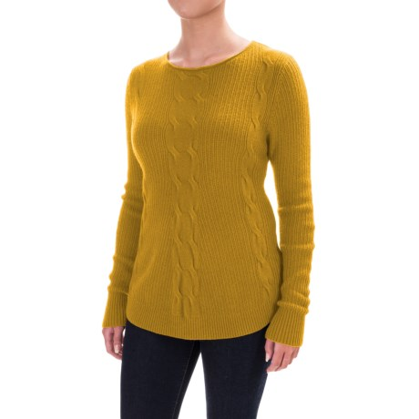 Parkhurst Barbara Cable-Knit Sweater (For Women) in Ochre