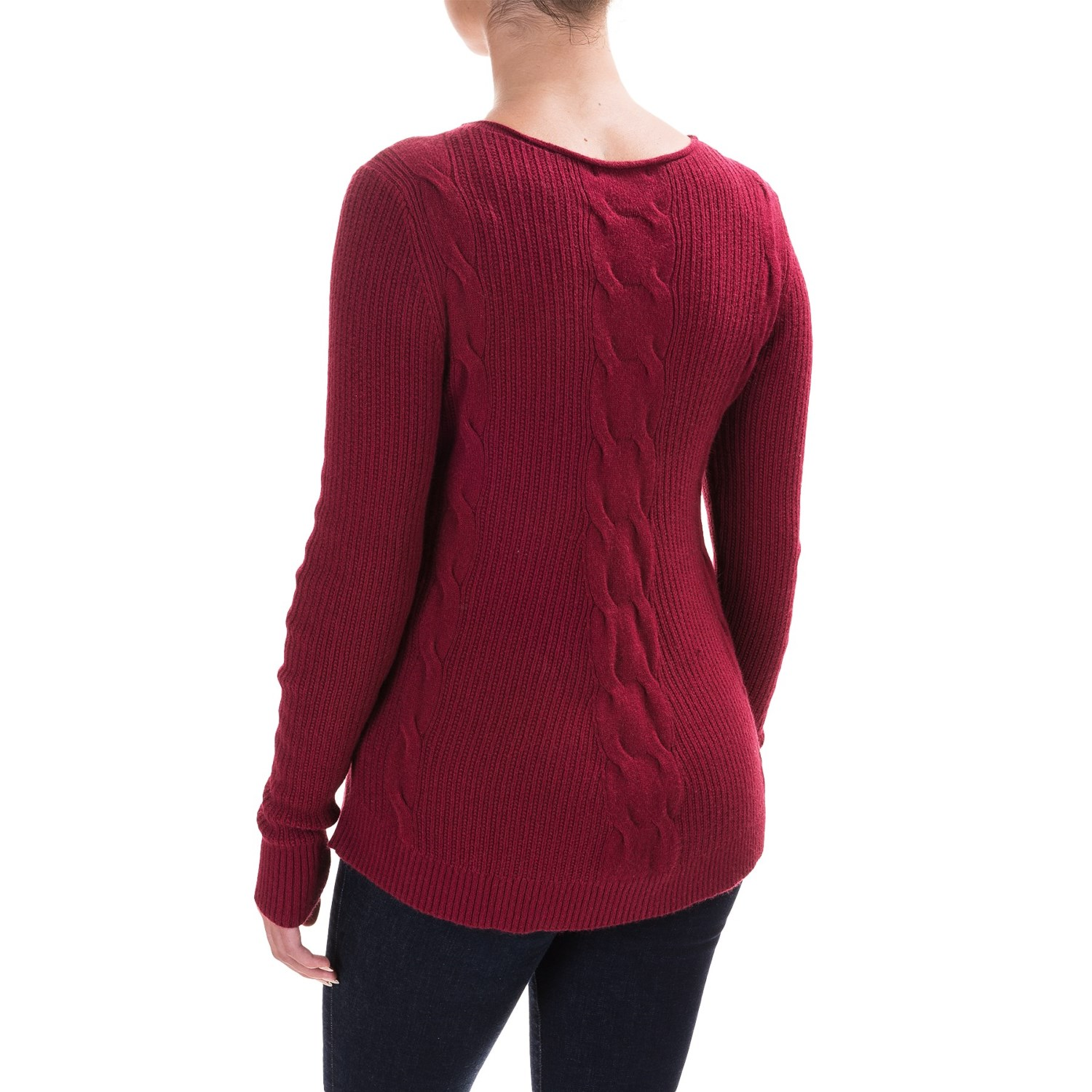 Parkhurst Barbara Cable-Knit Sweater (For Women) - Save 49%
