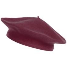 Parkhurst Basic Wool Beret (For Women) in Fine Wine - Overstock