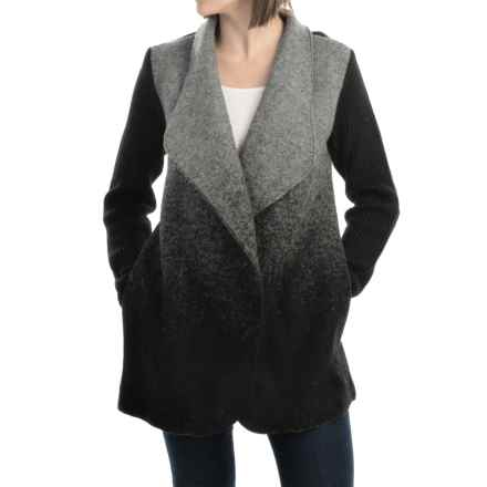 Parkhurst Cameron Boiled Wool Cardigan Jacket (For Women) in Black/Grey - Overstock