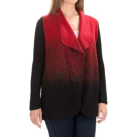 Parkhurst Cameron Boiled Wool Cardigan Jacket (For Women) in Black/Red - Overstock