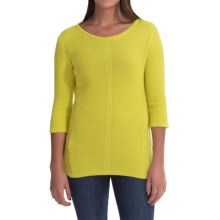 Parkhurst Crew Neck Sweater - 3/4 Sleeve (For Women) in Lime Zing - Closeouts
