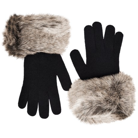 Parkhurst FAUX FUR CUFF GLOVE (For Women) in Artic Ermine