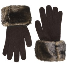Parkhurst Faux-Fur Cuff Gloves (For Women) in Mink Sable - Closeouts