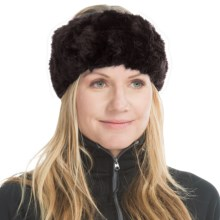 Parkhurst Faux-Fur Headband (For Women) in Beveled Black - Closeouts
