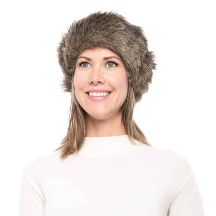 Parkhurst Faux-Fur Headband (For Women) in Coyote - Closeouts