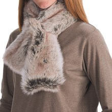 Parkhurst Faux-Fur Scarf (For Women) in Artic Ermine - Closeouts