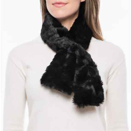Parkhurst Faux-Fur Scarf (For Women) in Black Lynx - Closeouts