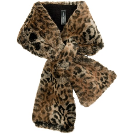 Parkhurst Faux-Fur Scarf (For Women) in Jungle Leopard