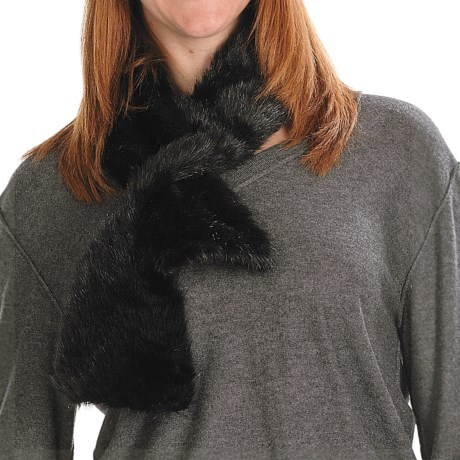 Parkhurst Faux-Fur Scarf (For Women) in Midnight Mink