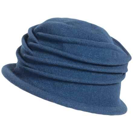 Parkhurst Isabel Wool Cloche Hat - Water Repellent (For Women) in Nola Navy - Overstock