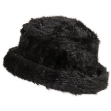 Parkhurst Josephine Hat - Faux Fur (For Women) in Midnight Mink - Closeouts
