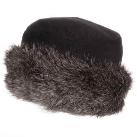 Parkhurst Kenya Faux-Fur-Trimmed Hat (For Women) in Black/Black Coyote - Closeouts