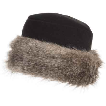 Parkhurst Kenya Faux-Fur-Trimmed Hat (For Women) in Black/Coyote - Closeouts