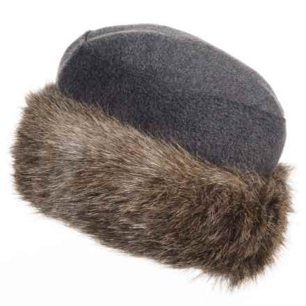 Parkhurst Kenya Faux-Fur-Trimmed Hat (For Women) in Charcoal/Coyote - Closeouts