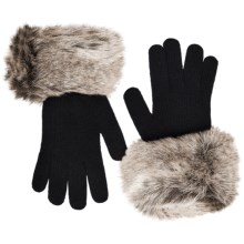 Parkhurst Knit Gloves with Faux-Fur Cuffs (For Women) in Artic Ermine - Closeouts
