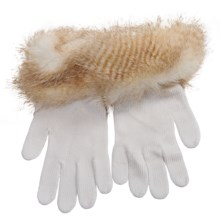 Parkhurst Knit Gloves with Faux-Fur Cuffs (For Women) in Golden Coyote - Closeouts