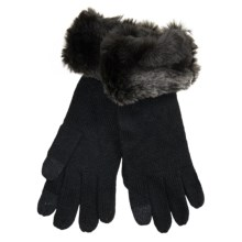 Parkhurst Knit Gloves with Faux-Fur Cuffs (For Women) in Grey Taupe - Closeouts