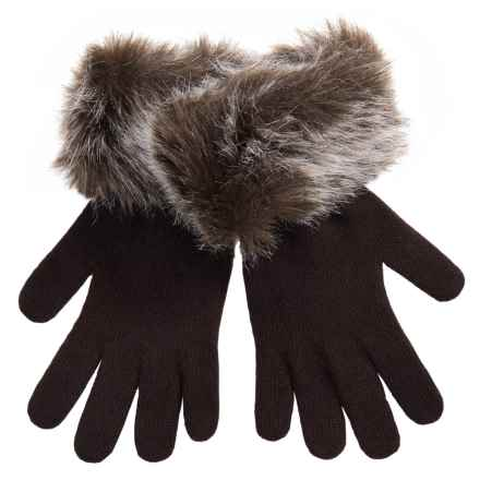 Parkhurst Knit Gloves with Faux-Fur Cuffs (For Women) in Mishka - Closeouts