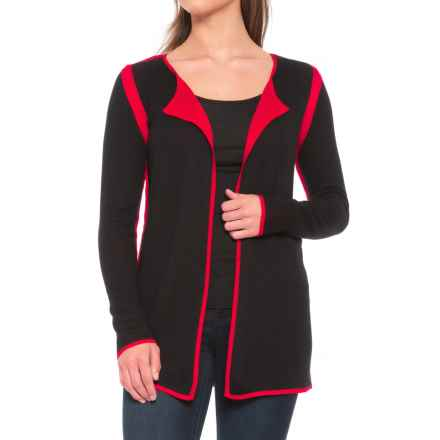 0d1d08cdf3d Parkhurst Laura Reversible Cardigan Sweater - Open Front (For Women) in  Black/Red