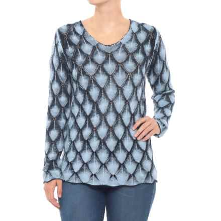 Parkhurst Molly Sweater (For Women) in Winter Sky/Navy - Closeouts