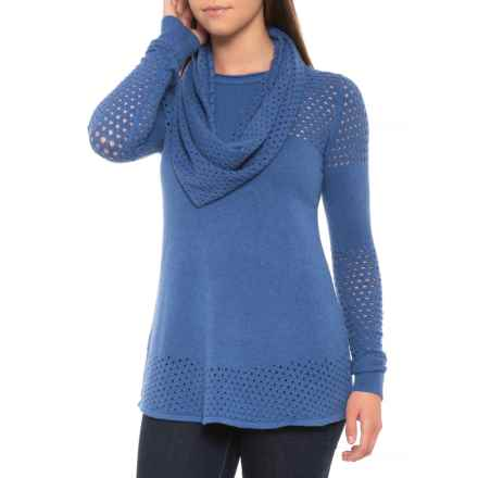 Parkhurst Pauline Tunic Sweater - Cowl Neck (For Women) in Heritage Blue - Closeouts