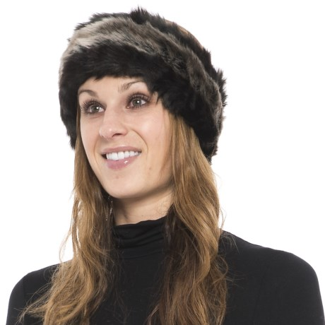Parkhurst Reversible Faux-Fur Headband (For Women) in Black Spotted/Tundra