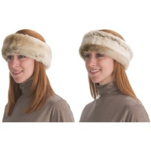 Parkhurst Reversible Faux-Fur Headband (For Women) in Timberland/Icelandic - Closeouts