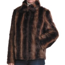 Parkhurst Reversible Faux-Fur Jacket (For Women) in Chestnut - Closeouts