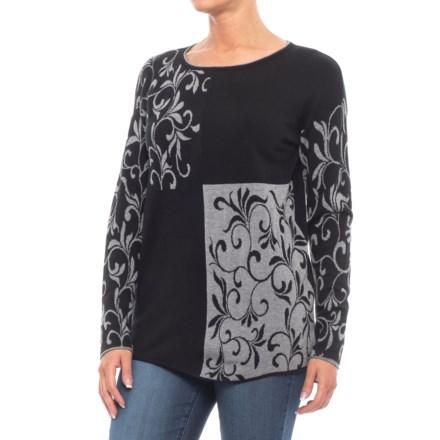 e8cad2742ba35 Parkhurst Scroll Pullover Shirt - Long Sleeve (For Women) in Black/Grey -