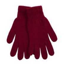 Parkhurst Wool Rib-Knit Gloves (For Women) in Burgandy - Closeouts