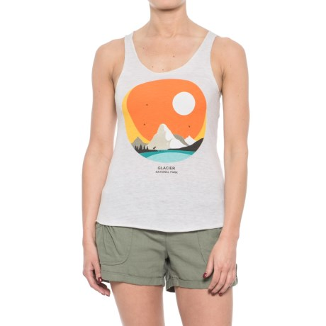 Parks Project Glacier Silhouette Tank Top - Racerback (For Women) in White