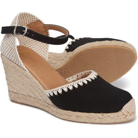 132098e54fb PASEART Made in Spain Embroidered Wedge Espadrilles - Suede (For Women)