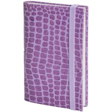 Passport Collection  Faux-Croc Embossed Notebook in Lilac - Closeouts